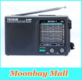 Alta qualidade tecsun r-909 fm/mw/sw 9 banda palavra receptor de rádio portátil estéreo tecsun r909 radio frete grátis nova venda quente
