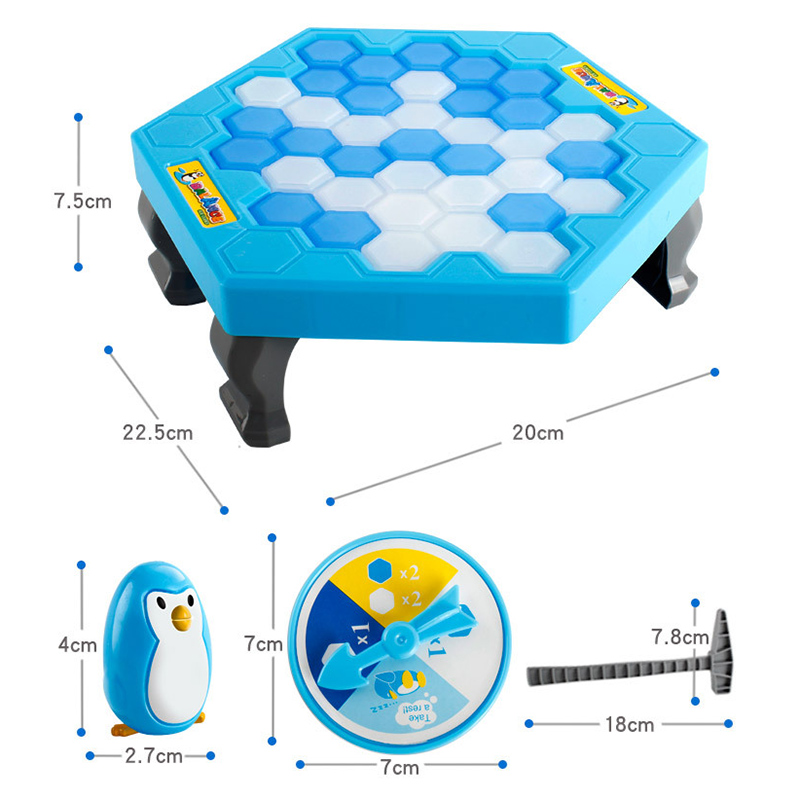 1 Set Small Save Penguin Ice Breaker Table Game Toy Funny Children Kids Trap Penguin Party Toy YH 17 in Party Games from Toys Hobbies