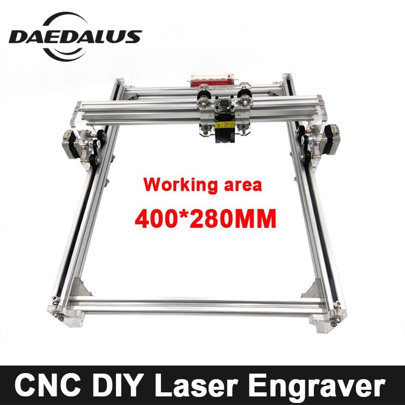 CNC 400*280mm Laser Engraver 500mw/2500mw/5500mw 15000mw Laser Machine DIY MINI Wood Router For Cutting Engraving Milling Tools diy mini laser machine 6040 6090 small laser cutting machine 60w laser engraver for wood