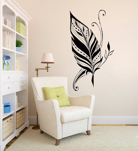 Aliexpresscom Buy Art Design Feathers Home Amulet Symbol