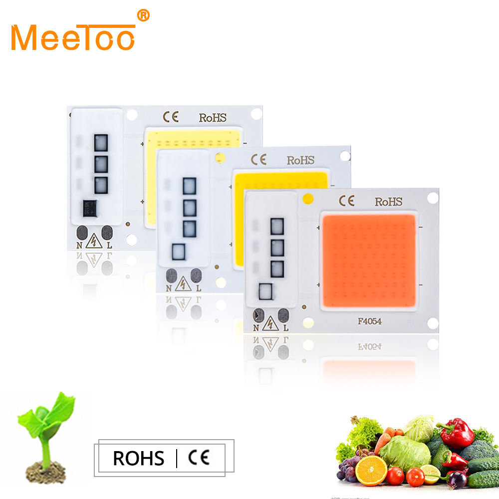 Led Grow Lights Lights & Lighting Full Spectrum Cob Led Grow Light Plant Lamp Chip 20w 30w 50w 220v Diy Led Floodlight For Indoor Plant Seedling Growth And Flower Soft And Antislippery