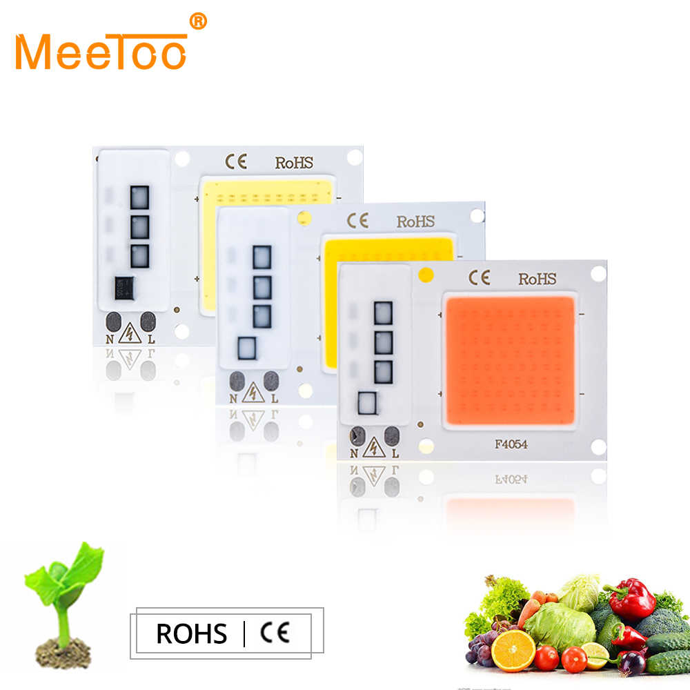 Hydroponice AC220V 110V Real 10W 20W 30W LED Grow Light Lamp COB Chip Full Spectrum Fitolampy For Indoor Plants Flower Seedlings