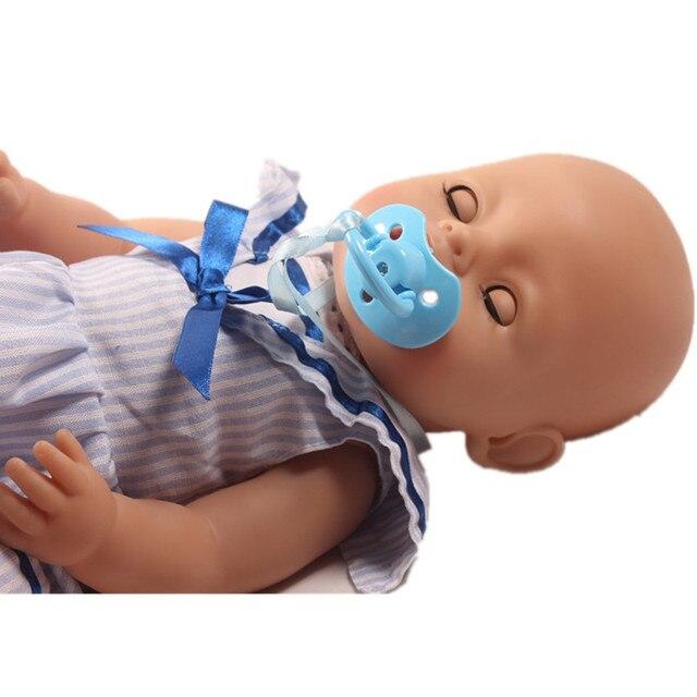 Blauwe Baby Accessoires.Us 1 29 Baby Speelgoed Pop Accessoires Baby Pop Handgemaakte Diy Fopspenen Blauw Tepel Met Lange Riem Voor 43 Cm Babypop In Baby Speelgoed Pop