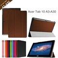 Для Acer Iconia Tab10 A3-A30 10.1 '' планшет чехол для Acer Tab10 A3-A30 tri-rail складной флип кожаный чехол + протектор
