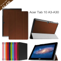 For Acer Iconia Tab10 A3-A30 10.1'' Tablet Case for Acer Tab10 A3-A30 Tri-folding Flip Leather Case+protector