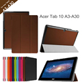 Para Acer Iconia Tab10 A3-A30 10.1 '' Tablet para Acer Tab10 A3-A30 Tri folding bolsa em couro + protetor
