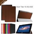 Para Acer Iconia Tab10 A3-A30 Case 10.1 '' Tablet para Acer Tab10 A3-A30 tri-plegable Flip funda de cuero + protector