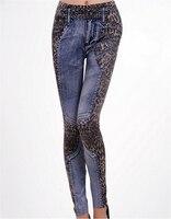 2015 Autumn Woman Sexy Knitting Leopard Leggings Print Jeans Legging Sport Leggings Fitness American Apparel Jeans