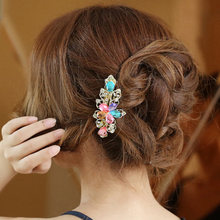 Various Styles Retro Hair Accessories Barrettes For Women Crystal Butterfly Resin Flower Clip retro style Head wear