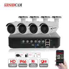 KRSHDCAM 4CH CCTV System 1080P AHD 1080N CCTV DVR 4PCS 3000TVL Waterproof Outdoor Security Camera Home Video Surveillance XMEYE