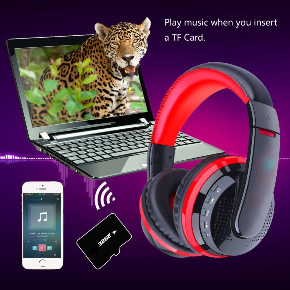 Bluetooth Headphones Wireless Earbud Microphone Earphone w/Mic Noise Cancelling for Men Women for soundtracks audio books iPhone image