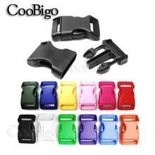 """12 шт. 3/""""(20 мм) пластиковые цветные Контурные боковые пряжки, размер для паракордовых браслетов, ошейник для домашних животных, запасные части для ремешка"""