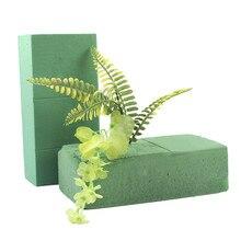10 шт. флористическая пена блоки, кирпич цветок держатель флорист цветочный пенополистирола зеленого кирпича применяется сухой или влажной для искусственные цветы