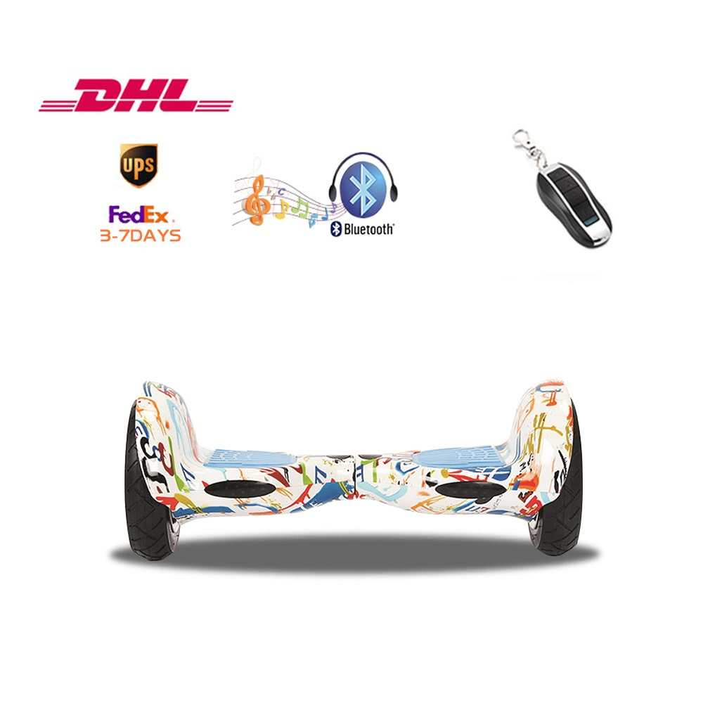 Electric Scooters 10 Inch Bluetooth Music LED Light Scooter Self Balancing Smart hoverboard with UL2272 3-8 days of delivery hot sale 4 5 inch electric self balancing scooter hoverboard smart wheels smart scooters balancing board for kid n5 1