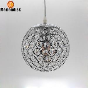 Image 5 - E27 Modern Nice Pendant Lights Gold/Silver Pendant Light,Round Ball Crystal D15CM Pendant Lamps For Living Room Bed Room(DN 65)