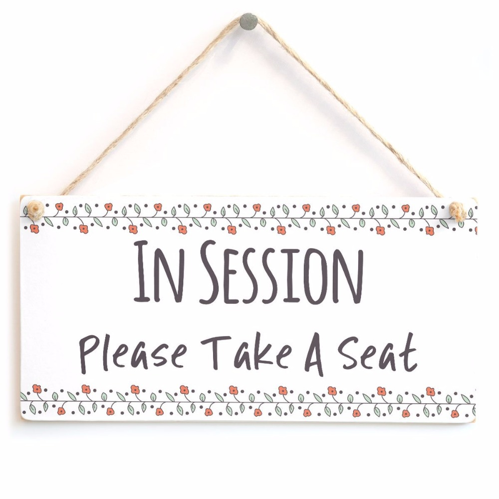 Meijiafei in session please take a seat functional do not disturb home office door plaque sign 10x5
