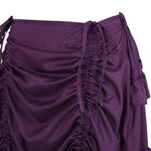 Image 5 - Falda Steampunk Vintage para mujer, falda gótica con volantes, falda pirata de talla grande, disfraz de pirata, varios colores, trajes de baile Alto y Bajo