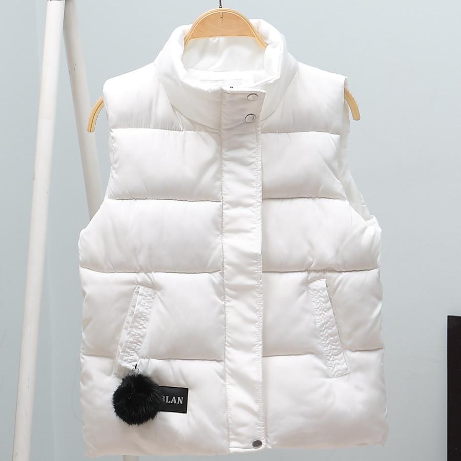 New Arrival 2018 Autumn Winter Women Vest Cotton-padded Short Waistcoat Plus Size Sleeveless Outwear Female Casual Parka Mujer