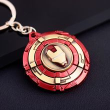 Avengers Captain America Keychain Superhero Star Shield Pendant Car Key Chain Accessories Iron man llaveros key Holder Escudo(China)