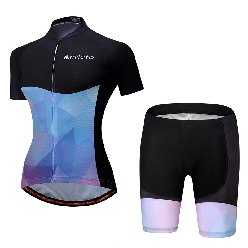 2017 Short Sleeve Women Cycling Jersey Sets Summer Bicycle Cycling Clothing Quick Dry mtb Bike Jersey Maillot Ropa Ciclismo xintown women summer cycling wear short sleeve suit bike bicycle cycling clothing mtb shorts women s team cycling jersey sets