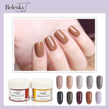 BELASKY French White Dipping Powder No Lamp Cure Nails Dip Powder Clear Pink Gel Nail Powder Natural Dry For Nail Salon