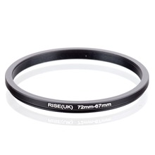 RISE(UK) 72mm-67mm 72-67mm 72 to 67 Step down Ring Filter Adapter black