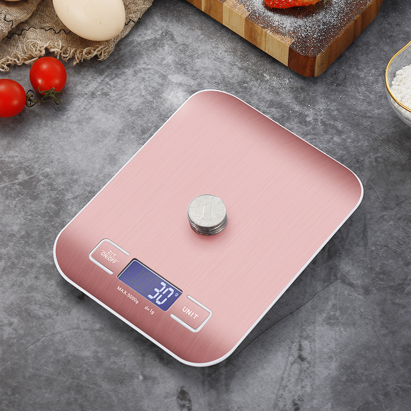 Electronic Kitchen Scales Balance 5Kg/10Kg Cooking Measure Tools High Accurate Food Baking Scale Stainless Steel Weight Scale