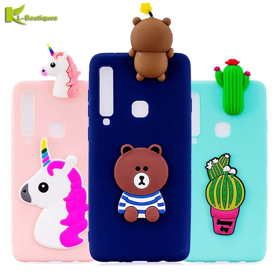 A9 2018 Phone Cases sFor Coque Samsung Galaxy A9 2018 Case Soft 3D DIY Panda Bear Doll Toy Case for Samsung A9 2018 A920 Etui