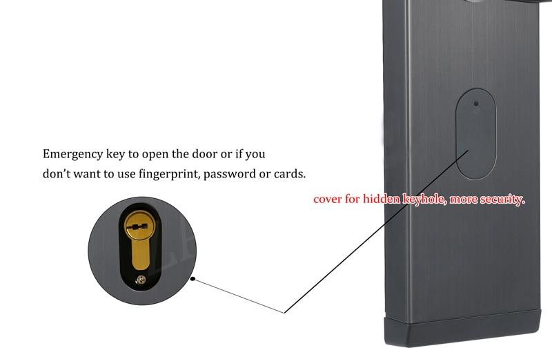 HTB1iE1OcLc3T1VjSZLeq6zZsVXao YOHEEN Smart Biometric Fingerprint Lock with Digital Password RFID Card Key Electronic Smart Fingerprint Door Lock