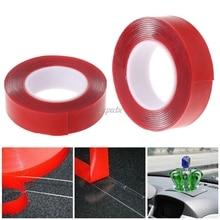 2 м красная Двухсторонняя клейкая лента высокопрочная акриловая гелевая прозрачная Автомобильная фиксация и Прямая поставка