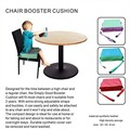 New Safe Soft Baby Foam Seat Hip Cushion Pads With Zipper For Kids / Baby Kids Heighten Pad Chair Booster Seat Cushion