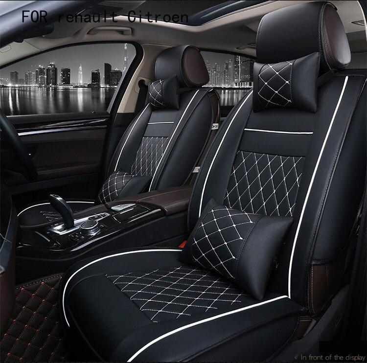 BABAAI easy clean firm grid pu leather car seat cover for renault megane 2 duster Citroen C4 C3 front rear universal seat covers qualy держатель брелок для ключей двойной sparrow коричневый белый розовый