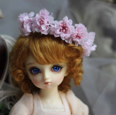MSD Mohair doll wig  1/4BJD  wig  Lovely Baby Wave toy wig 7-8 inch  doll accessories for Porcelain doll   play doll