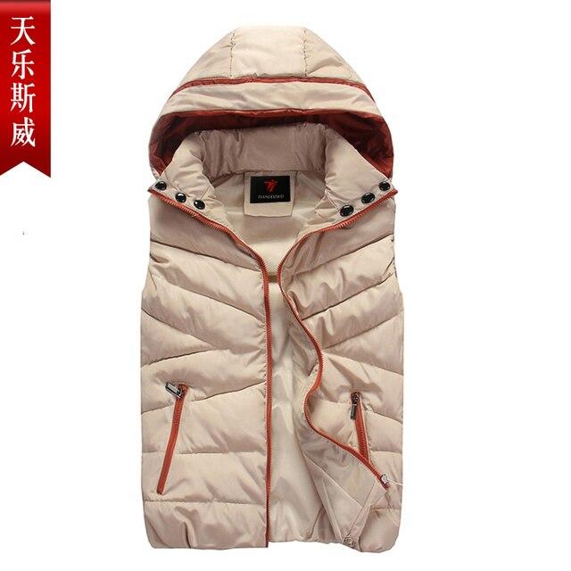 Autumn and winter lovers fashion down cotton vest men vests women vest waistcoat with detachable hood free shipping