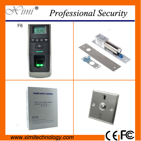 Linux system free shipping fingerprint reader door access control 500 fingerprint user TCP/IP network door access control kit