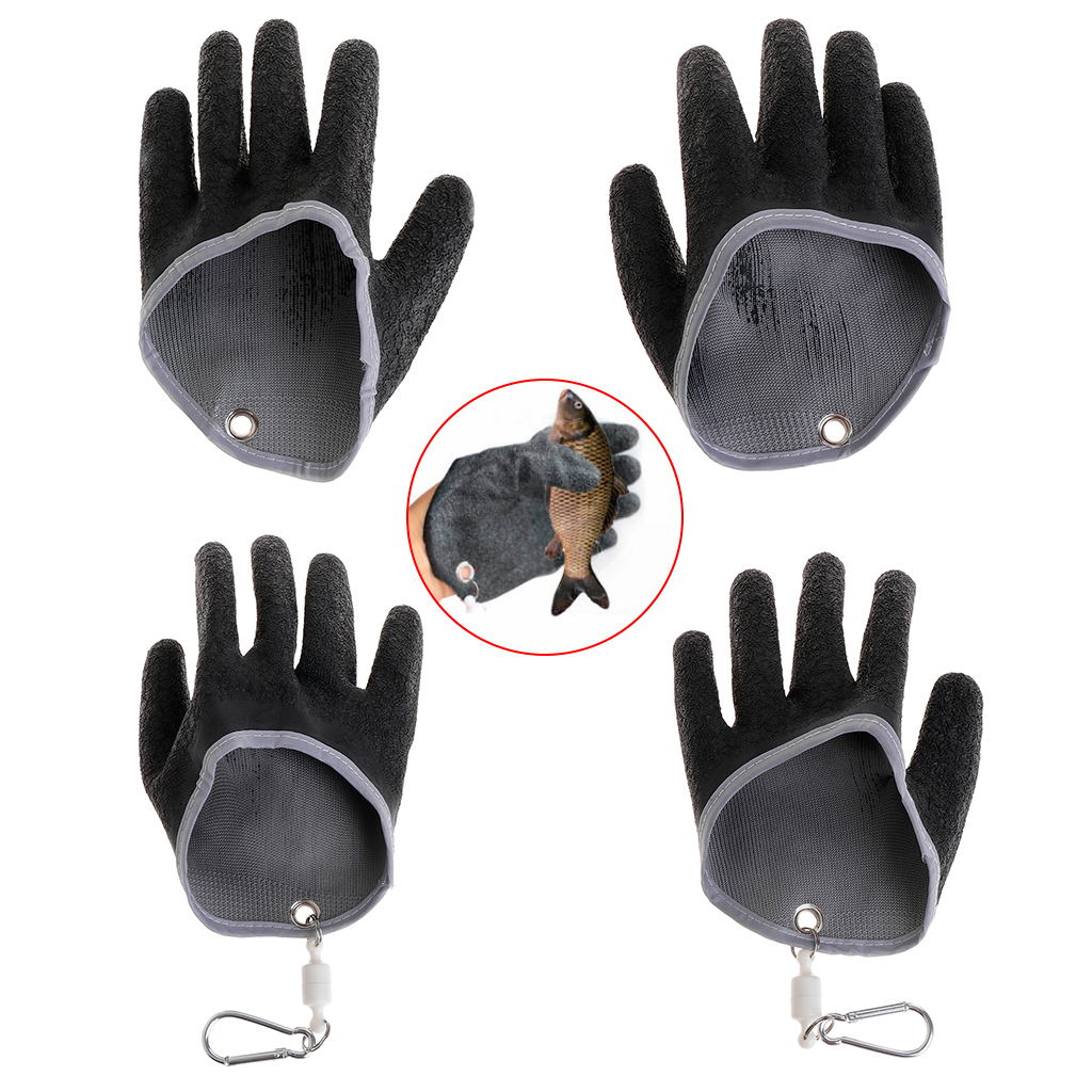 1pc Fisherman Professional Fishing Glove With Magnet Release Catch Cut Puncture