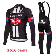 The giant team long sleeve shirt 2016 NEW bike bicycle road cycling jacket to wear clothes ciclismo only plus size