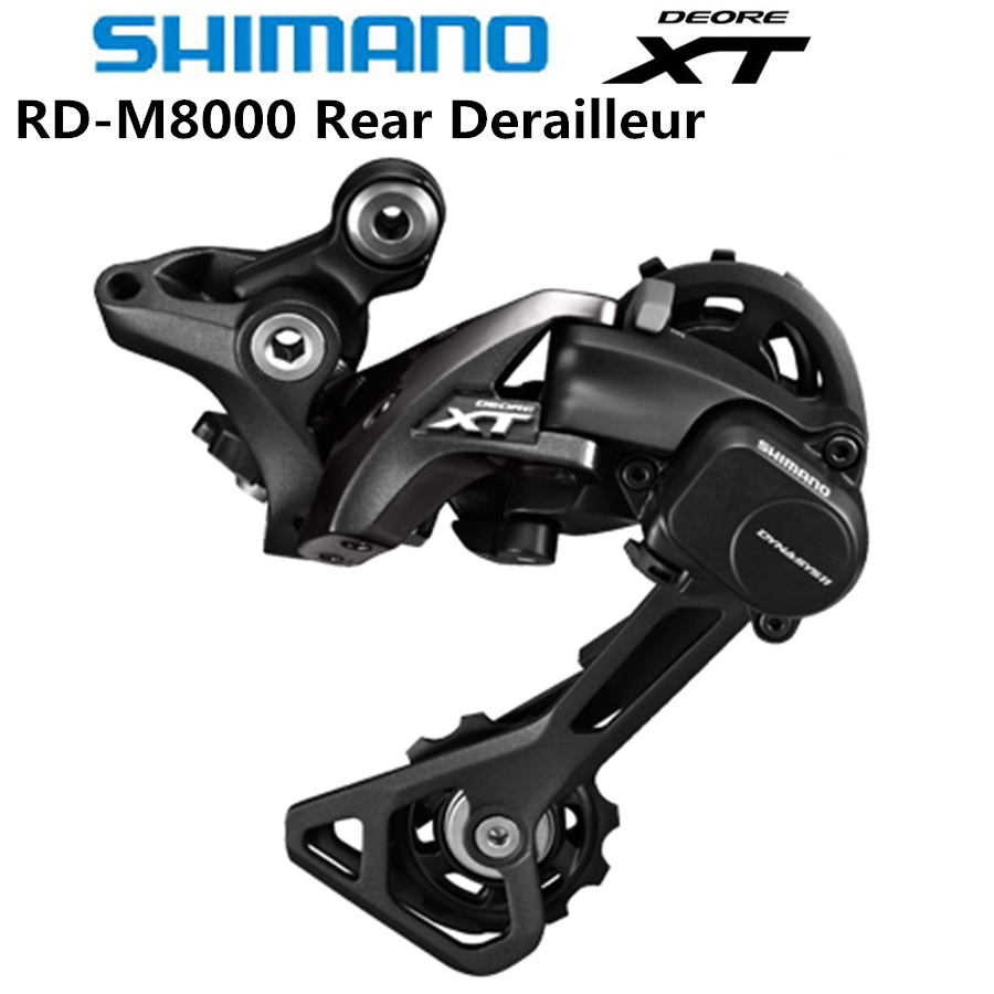 Shimano DEORE XT RD M8000 Rear Derailleurs Mountain Bike M8000 GS SGS MTB / Long & Middle Cage 11S Speed Shadow+ Locking Button