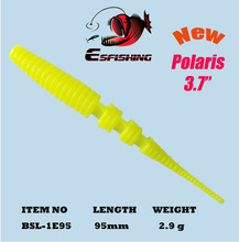 6pcs Worm NEW Polaris 3.7″ Fishing Tackle Lure Soft 9.5cm/2.9g  Esfishing Atificical Bait Tackle Lifelike Cheap Pesca Feeder