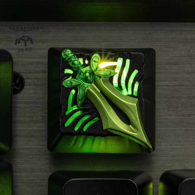 zomo dota2 hero Yurnero Juggernaut JUGG butterfly manta Rapier Artisan Keycap CNC anodized aluminum Compatible Cherry