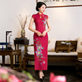 New Arrival Chinese Wedding Dress Lady Silk Cheongsam long Charming party dress Sexy Qipao Size S -3XL