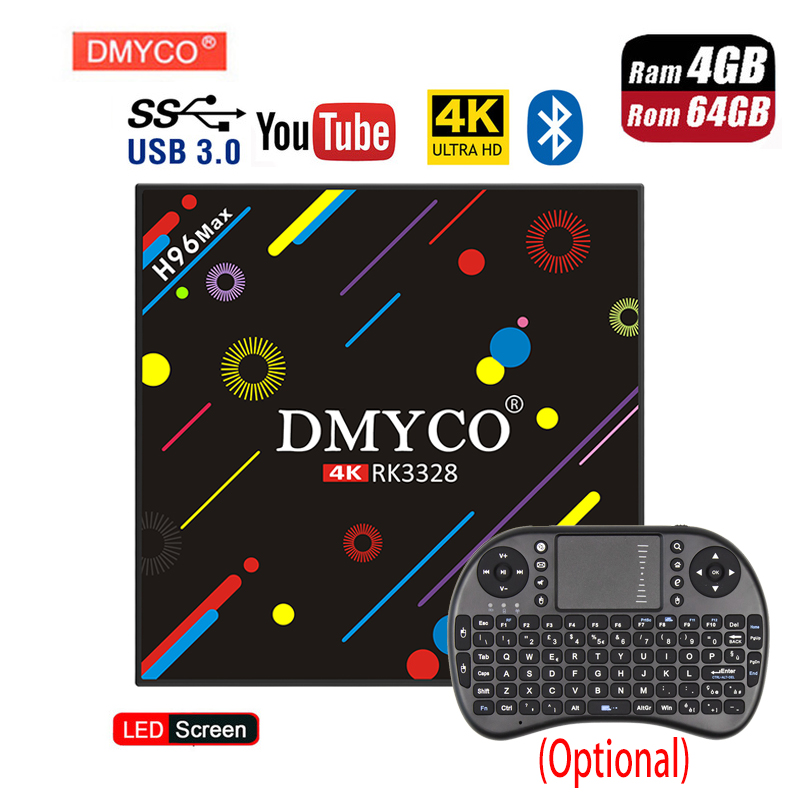 H96 Max H2 Android 7.1 TV Box RK3328 CPU Quad Core 4GB RAM 64GB ROM Smart TV Box Bluetooth4.0 2.4GHz WiFi 4K H.265 Set Top Box цена 2017
