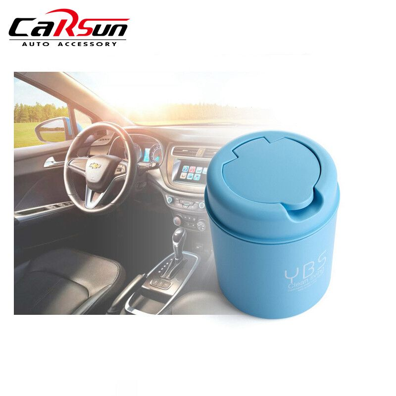 2018 New Mini Car Trash Bin Auto Waste Bin Portable Vehicle Rubbish Can Trash Dustbin Garbage Dust Bin For Car Drop Shipping