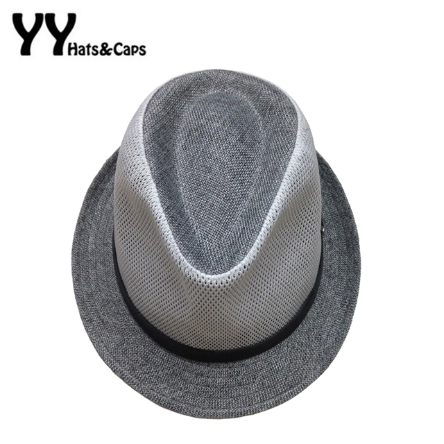 a12205d5873 Brand New Solid Breathable Fedora Hats for Men Casual Summer Sunhats With  Belt For Women Chapeu