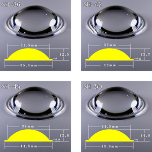 Image 3 - 2 шт., 20 мм, 23 мм, 25 мм, 28 мм, 36 мм, 42 мм, 45 мм, 50 мм, объектив PMMA для Q5 R2, R5, XM L, XM L2, T6, U2, U3 Zoom, светодиодный фонарик для велосипеда