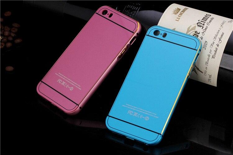 Caja de lujo moda para iphone5 5S Metal de aluminio + acrílico accesorios del te
