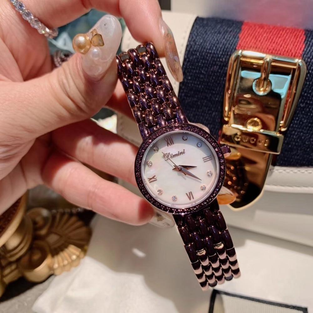 Noble Purple Women Bracelet Watches Elegant Office Lady Business Dress Watch Small Size Students Steel Wrist watch Quartz Shell