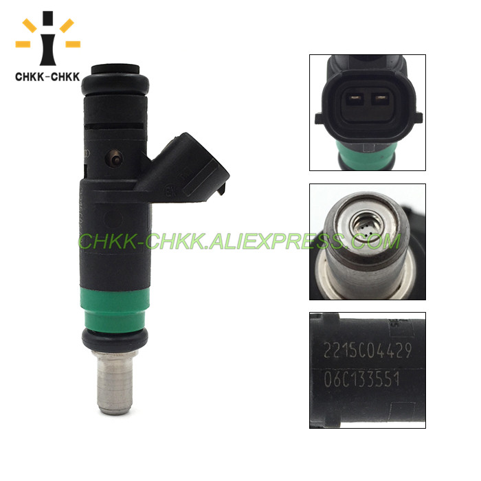 CHKK CHKK Car Accessory 06C133551 fuel injector for AUDI A4 QUATTRO 2002 2006 A6 QUATTRO 2002 2004 3 0 V6 in Fuel Injector from Automobiles Motorcycles