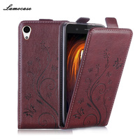 Luxury Leather Case For Sony Xperia M4 Aqua E2303 E2333 E2353 Flip Cover Butterfly Painting Wallet