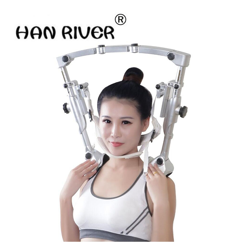 HANRIVER Aluminium alloy material of household cervical traction apparatus tensile strong edge cervical traction apparatus недорго, оригинальная цена
